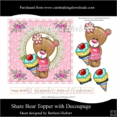 Share Bear Topper with Decoupage