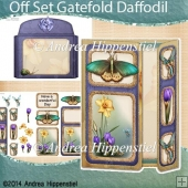 Off Set Gatefold Card Daffodil