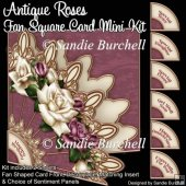 Antique Roses Fan Square Card Mini Kit