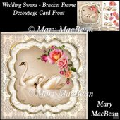 Wedding Swans - Bracket Frame Decoupage Card Front