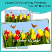 Cheery Tulip Stacker & Sentiments (A5 or DL)
