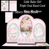 Little Baby Girl - Triple Oval Easel Card