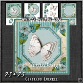 Vintage Lace Flowers Butterfly Card Kit 1251