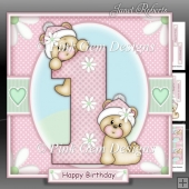 1st Birthday Bears Girl Mini Kit