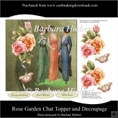 Rose Garden Chat Topper and Decoupage