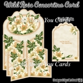 Wild Rose Concertina Card