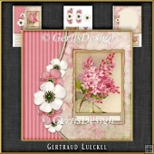 Vintage Flower and Butterflies Card Kit 1066