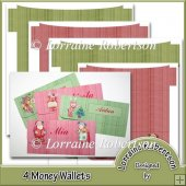 4 Christmas Money Wallets