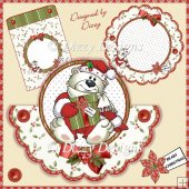 Beary Christmas Shaped Over The Top Card
