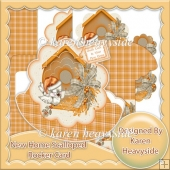 New Home Scallop Shaped Rocker Card