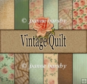 Vintage Quilt set of 12 A4 Patterned papers
