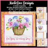 Beautiful Flower Basket 1 - Mixed Sentiments Mini Card Kit