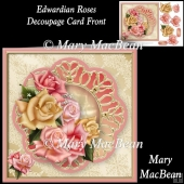 Edwardian Roses Decoupage Card Front