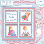 KNITTING SQUARES 7.5 Quick Layer Card & Insert Kit