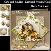 Gifts and Baubles - Diamond Pyramid Card