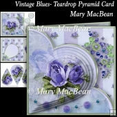 Vintage Blues - Teardrop Pyramid Card