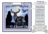 Winter Stag - Card Topper To Fit An 8 x 8 Comfortably