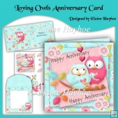 Loving Owls Anniversary Card Kit