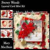 Snowy Woods Layered Card Mini Kit