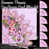 Summer Pansies Fan Square Card Mini Kit