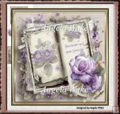 Lilac rose and violets