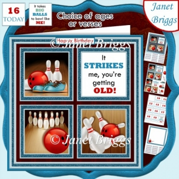 BOWLING NIGHT 7.5 Quick Layer Card & Ages Mini Kit