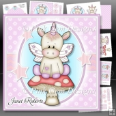 Unicorn on Toadstool Kit With Ages 1 to 10 years. New Baby