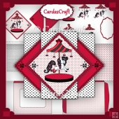 Red Triangle pop up cards set