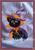 Halloween Bewitched Cat for cutting from card /paper or vinyl