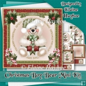 Christmas Boy Bear Mini Kit