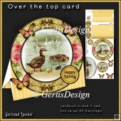 Over the Edge Round Card Kit vintage ducks