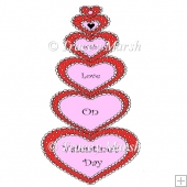 With Love on Valentine's Day Clipart - Commercial & Personal Use