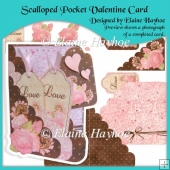 Scalloped Pocket Valentine Card