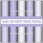 Lilac And White Theme Papers