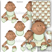 Ethnic Baby Boy Decoupage Set