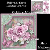 Shabby Chic Flowers Decoupage Card Front