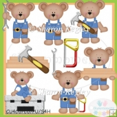 Mr. Fix it Bear Clip Art