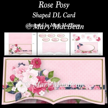 Rose Posy - Shaped DL Card