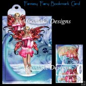 Fantasy Water Fairy Bookmark Card