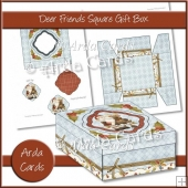 Deer Friends Square Gift Box