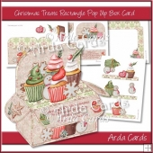Christmas Treats Rectangle Pop Up Box Card