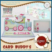 Santa�s Train Over the Top Easel Card Kit