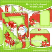 Ho Ho Ho Scalloped Pocket Card & Envelope Set