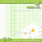 Daisy Chain Green Backing Papers