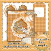 New Home 1 6x6 Scalloped Foldback Card