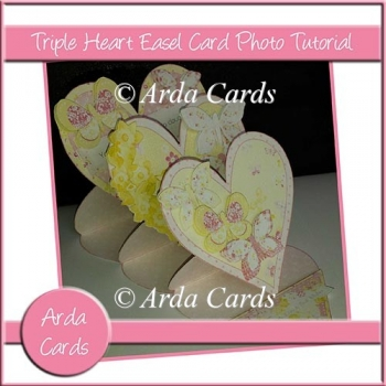 Triple Heart Easel Card Photo Tutorial