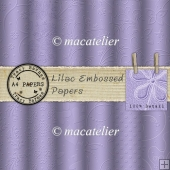 Lilac Embossed A4Papers