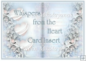 Whispers from the Heart Card Insert