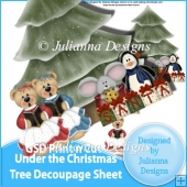 GSD Print n Cut Under the Christmas Tree Decoupage Cutting File