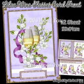 Lilac Wine Glasses Card Front